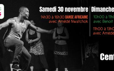 30 novembre et 1er décembre 2019 – Danse africaine et Postural Ball®